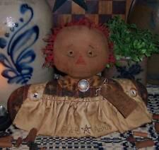 Primitive Raggedy Ann Annie Stump Doll Paper Pattern #593