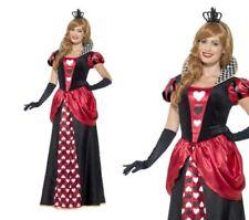 Rojo Real Reina De Corazones Mujer Cuento De Hadas Disfraz Tallas S-XXL