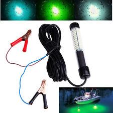 5m LED Fishing Light Underwater Flashing Fish Attract White Green Blue 12V RC748