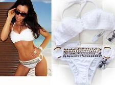 "NEW! ""Victoria's Secret"" Sexy White Crochet Swimsuit Bikini Top and Bottom S M L"