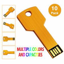 10PCS/Lot 1GB-8GB Key USB 2.0 Flash Memory Stick Pen Drive Storage Thumb U Disk