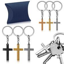 Portachiavi Croce Preghiera Anello Portachiavi Coche Chiavi Keyfob + Caso Regalo