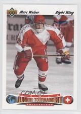 1991 Upper Deck #666 Marc Weber Team Switzerland (National Team) RC Hockey Card