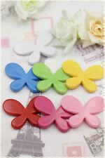 15 Farfalle perle resin distanziatore 4,5cm bracciali orecchini collane perline
