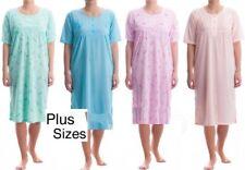 Ladies Short Sleeve Long Nightdress Summer Nighties Cotton Rich Plus Size M-6XL