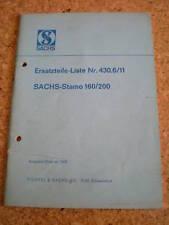 Ersatzteilkatalog Sachs Stamo 160/200 Stand 10/1968