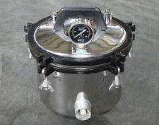 8L Portable Steam Autoclave Sterilizer Dental Equipment 220V