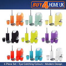 Bathroom Accessory Set Soap Dish Dispenser Bin Tumbler Toothbrush Holder 6 piece