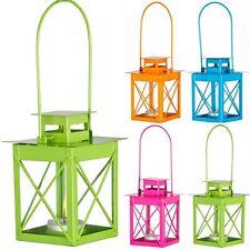 Colourful Outdoor Garden Hanging Metal Candle Lantern Holder Tea Lighting Patio