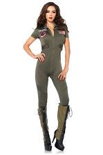 Brand New Top Gun Flight Suit Pilot Jumpsuit Adult Costume