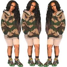 Fashion Women Camouflage Long Sleeve Hoodie Sweater Blouse Casual Clubwear