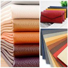 1m PU Leather Litchi Grain Fabric Soft Cloth for Sofa Bag Garment Making DIY