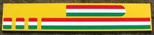 FIAT 500 Italian Flag Roof Stripe style Decal Sticker