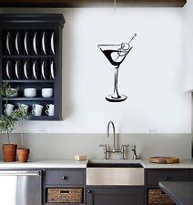 Vinyl Decal Wall Sticker Martini Glass Wine Alcohol Bar Decor Unique Gift (g091)