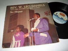 REV. W. LEO DANIELS/MRS. NEVARRO DANIELS So Happy AIR RECORDS & TAPES