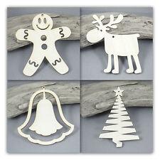 Christmas Tree Decoration RUDOLPH Bell MDF Birch Plywood Laser Cut Wooden Shape