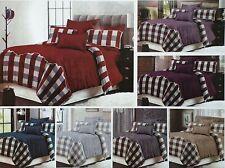 3 Stück Gesteppte Tagesdecke Überwurf Bettdecke Bettwäsche-sets Bezüge Kariert