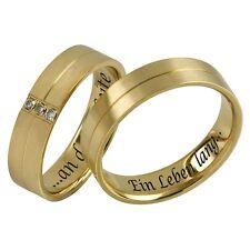 Edelstahl Ringe / Partnerringe / Eheringe 2er-Set inkl. Innengravur Ring