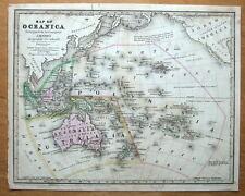 Australia, Malesia, oceanica, Polinesia Antico Mappa 1839