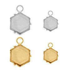 Fianza de latón//base Para 4699 Cristales de piedras de fantasía de Hexágono Caleidoscopio