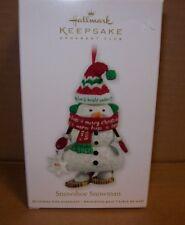 2011 HALLMARK KEEPSAKE CHRISTMAS TREE ORNAMENT SNOWSHOE SNOWMAN NEW IN BOX