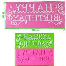 Joyeux anniversaire dentelle écrit gaufrage moule / mat par fairie bénédictions