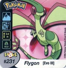 STAKS AIMANT POKEMON PANINI 50X50 N° 231 FLYGON