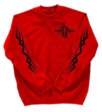 Felpa unisex Shirt S M L Xl Xxl 3Xl 4Xl+Pressione ritorno Tatuaggio 10113 rosso