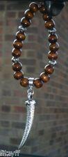 Voiture en bois suspendus en bois perles & brosme dent charme corne de nombreux pendentif