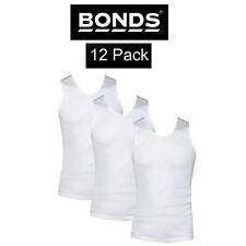 Mens Bonds White Chesty Singlet 12 Pack Bulk Wholesale Underwear Top Lot M700