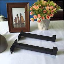 Steel Shelf Brackets Decor Office Bedroom Wall Hangers Mounted Floating Black