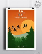 E.T EXTRA TERRESTRE-Minimaliste Art Movie Poster Minimal Imprimer posteritty