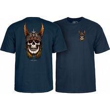 Powell Peralta Skateboard Shirt Andy Anderson Skull Navy