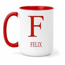 Felix Nom & Initiales Tasse - Cadeau en Plusieurs Couleurs pour Thé ou Café