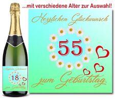 Flaschen Aufkleber Geburtstag Etikett verschiedene Alter Sektflasche Margarete