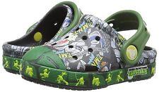 Kids Crocs Ninja Bump It TMNT Clog Sandal 202686 Black Seaweed 100% Original New