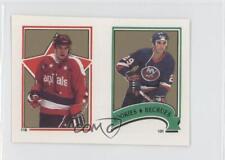 1987-88 O-Pee-Chee Album Stickers #131-119 Ken Leiter Larry Murphy Hockey Card