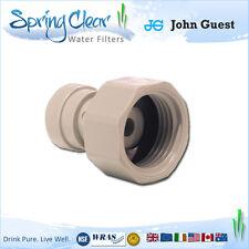 """John guest 3/4 bsp - 3/8"""" push fit connecteur, robinet, ro unité, réfrigérateur filtre eau,"""