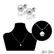 1 Set o. einzeln Perlenkette mit Ohrsteckern Kette Ohrstecker Perle Anhänger