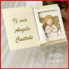 Bomboniere battesimo comunione cresima libro icona angelo custode offerte