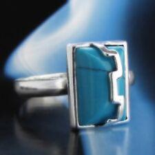 Türkis Silber 925 Ring Sterlingsilber Damen Schmuck verschiedene Größen R124