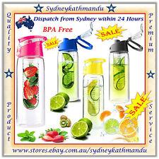 Fruit Infuser Water Bottle 700ml Vegetable Infusion Tritan Sport Fit Health Flip