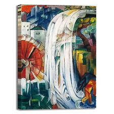 Franz Marc mulino stregato design quadro stampa tela dipinto telaio arredo casa