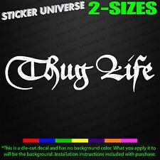 THUG LIFE Car Window Decal Bumper Sticker Gangsta Hipster Hip Hop Funny JDM 0548