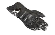 Alpinestars GP Pro R3 Gloves Leather Track Mens Motorcycle Motorbike Black White