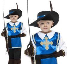 bambini Moschettiere Costume bambini completo Nuovo Da Smiffys