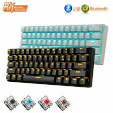 UK RK61 Wireless Bluetooth Wired Mechanical Keypad LED Backlight Gaming Keyboard