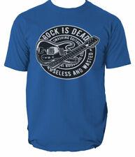 Rock Is Dead 1 t shirt guitar music S-3XL