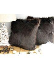 Brown Bear Faux Fur Cushion