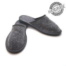 New grey womens comfort house slippers felt slip on shoes UK Size 3 4 5 6 7 8 F